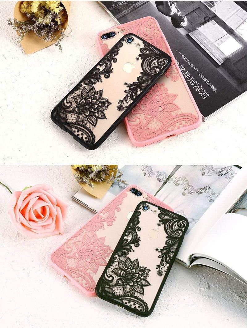 Luxury Lace Flower Case - Jelly Cases