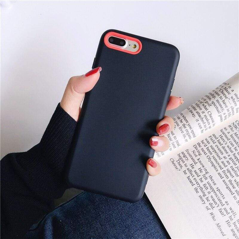 Matte Color Liquid Silicone Case - Jelly Cases