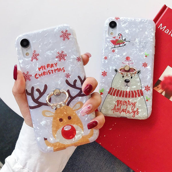 Merry Christmas Case + Ring Holder - Jelly Cases