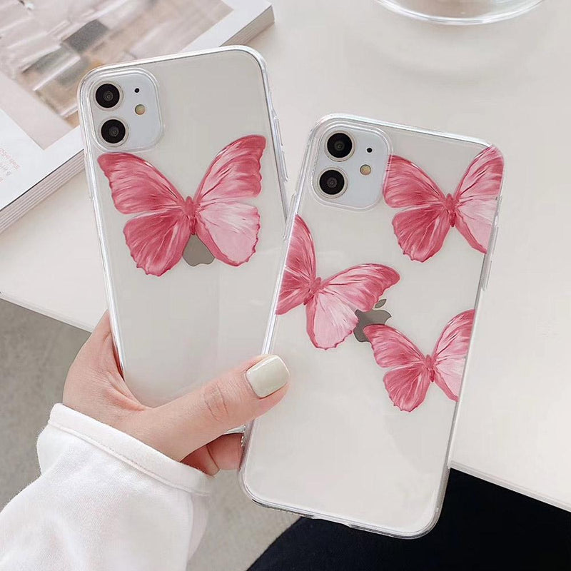Pink Butterfly Case - Jelly Cases