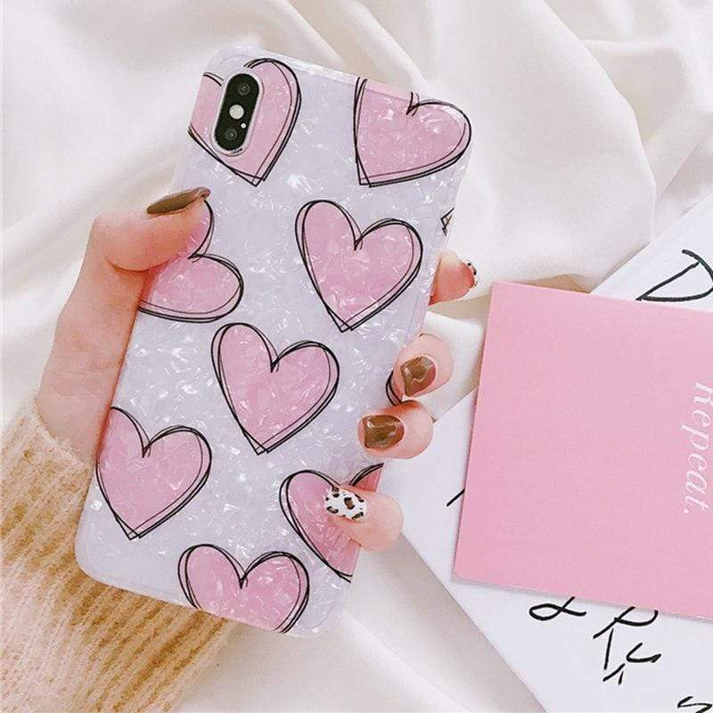 Pink Heart Dream Shell Case Jelly Cases
