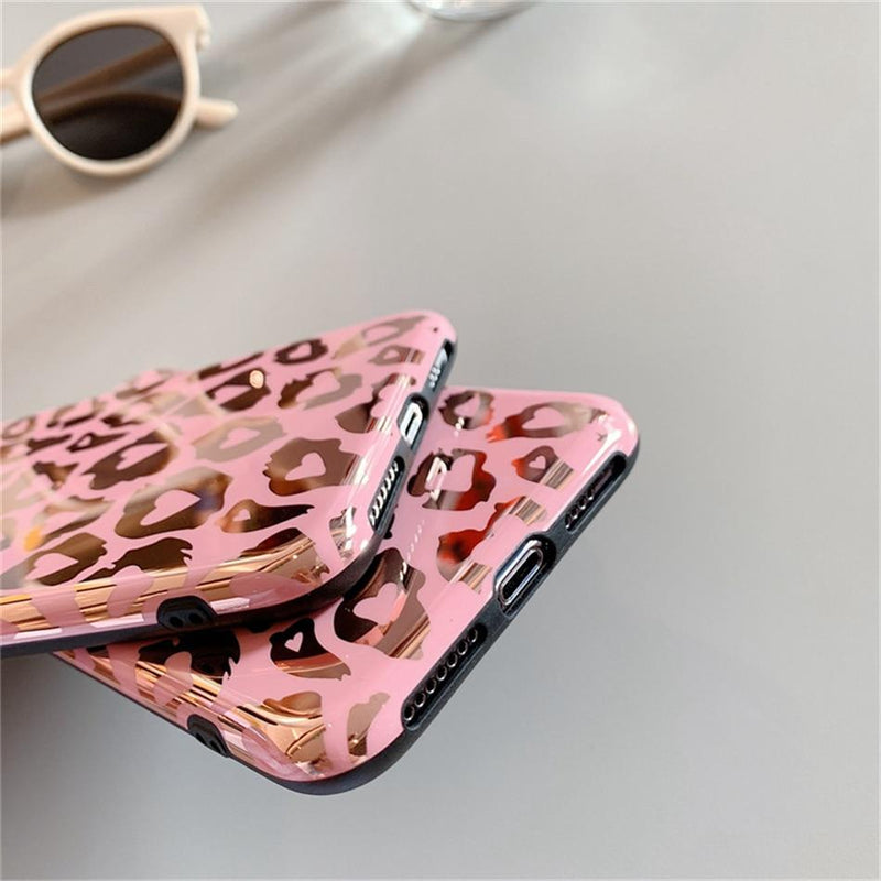 Pink Leopard Print Case - Jelly Cases