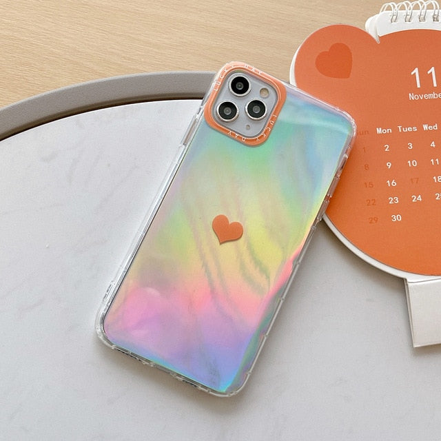Colorful Love Heart Case - Jelly Cases