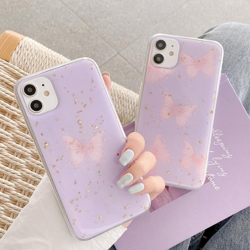 Purple Butterfly Case - Jelly Cases