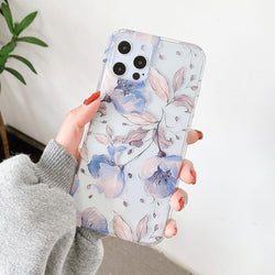Purple Flowers Case - Jelly Cases