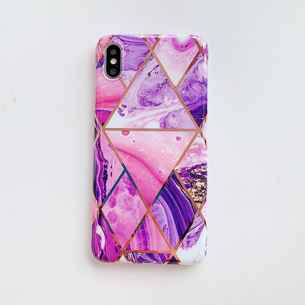Purple Marble Case - Jelly Cases