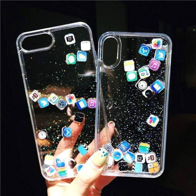 Quicksand Cute Apps Icon Case - Jelly Cases