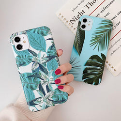 Retro Banana Leaf  Case - Jelly Cases