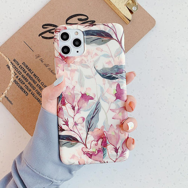 Retro Watercolor Flower Case - Jelly Cases