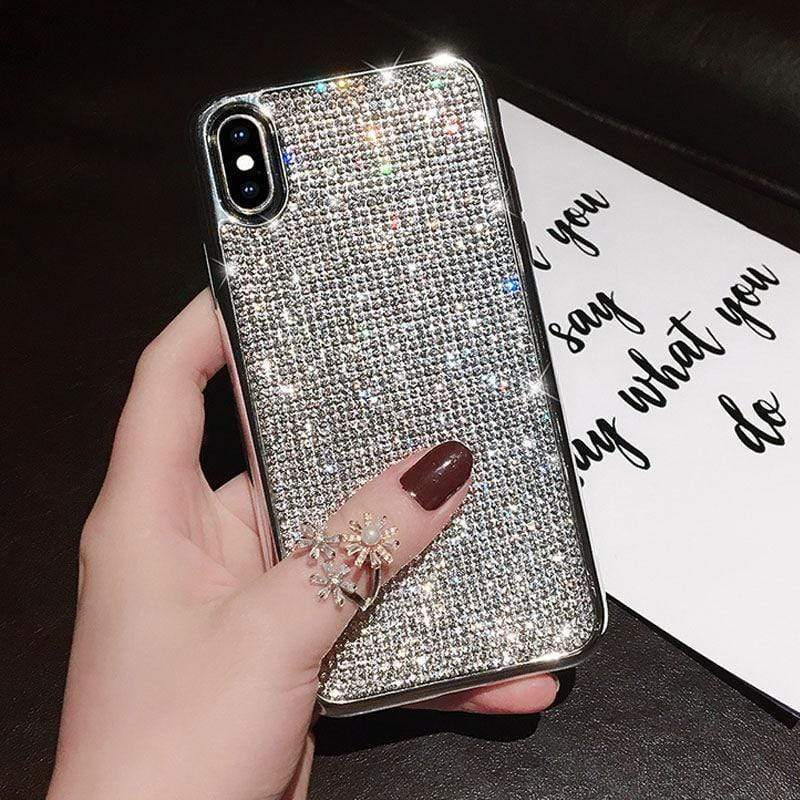 Rhinestone Glitter Case - Jelly Cases