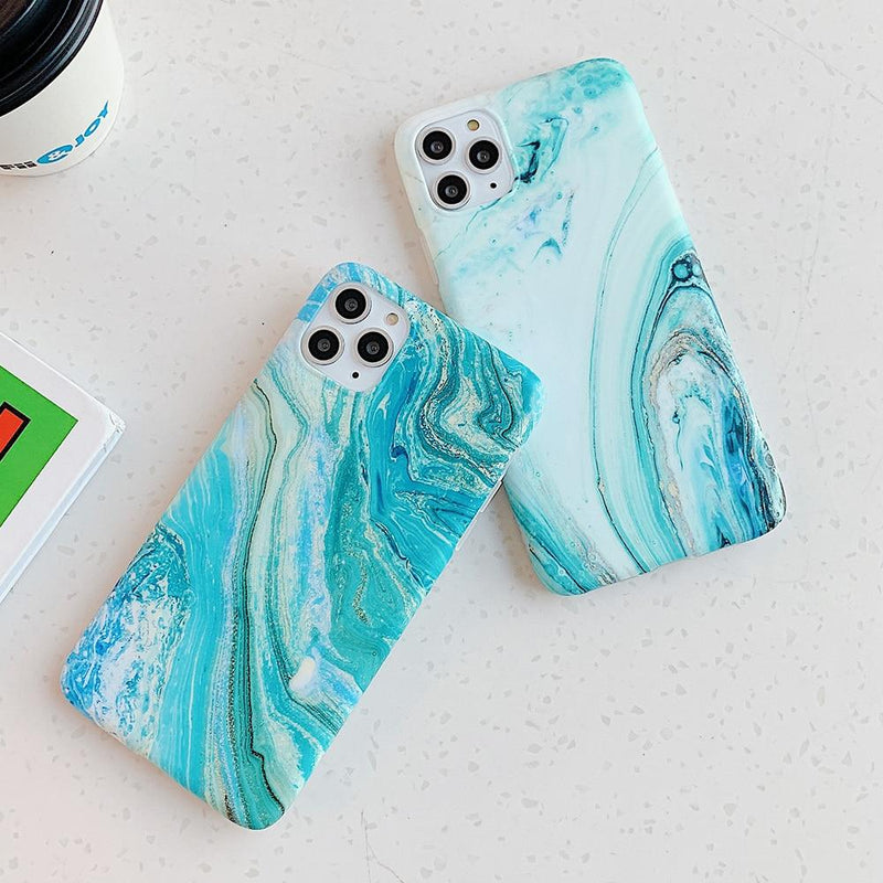 Sea Marble Color Case - Jelly Cases