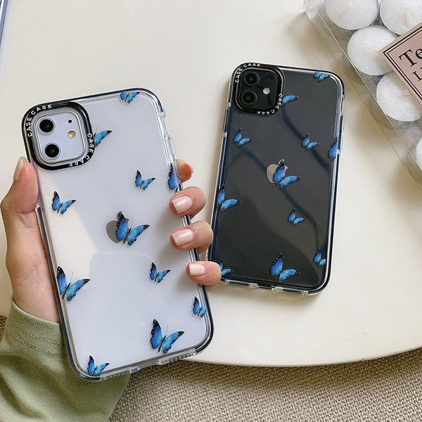 Shockproof Blue Butterfly Case - Jelly Cases