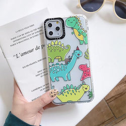 Shockproof Cartoon Dinosaur Case - Jelly Cases