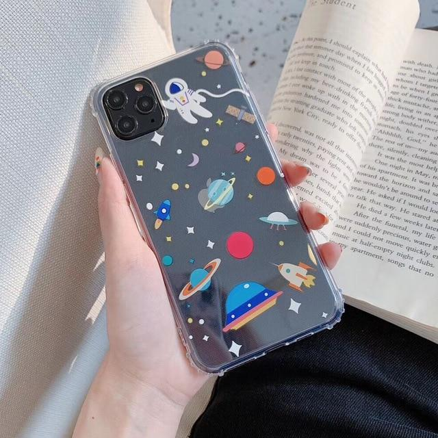 Shockproof Cartoon Planet Case - Jelly Cases
