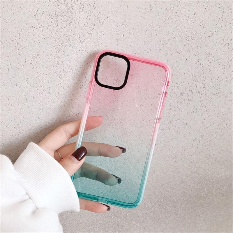 Shockproof Gradient Transparent Case - Jelly Cases