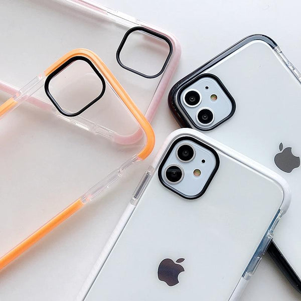 Shockproof Transparent Case - Jelly Cases