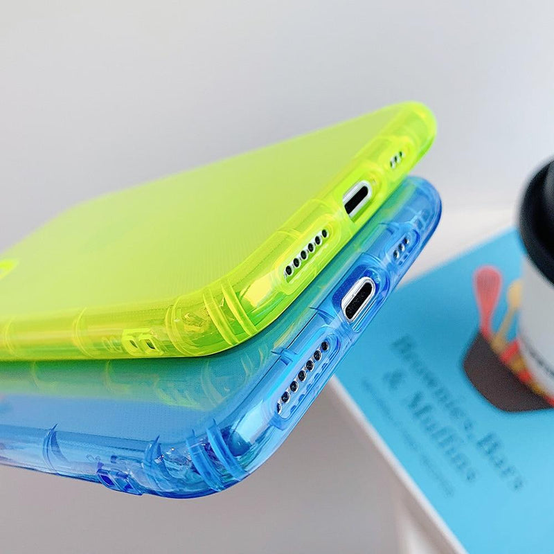 Shockproof Transparent Neon Case - Jelly Cases