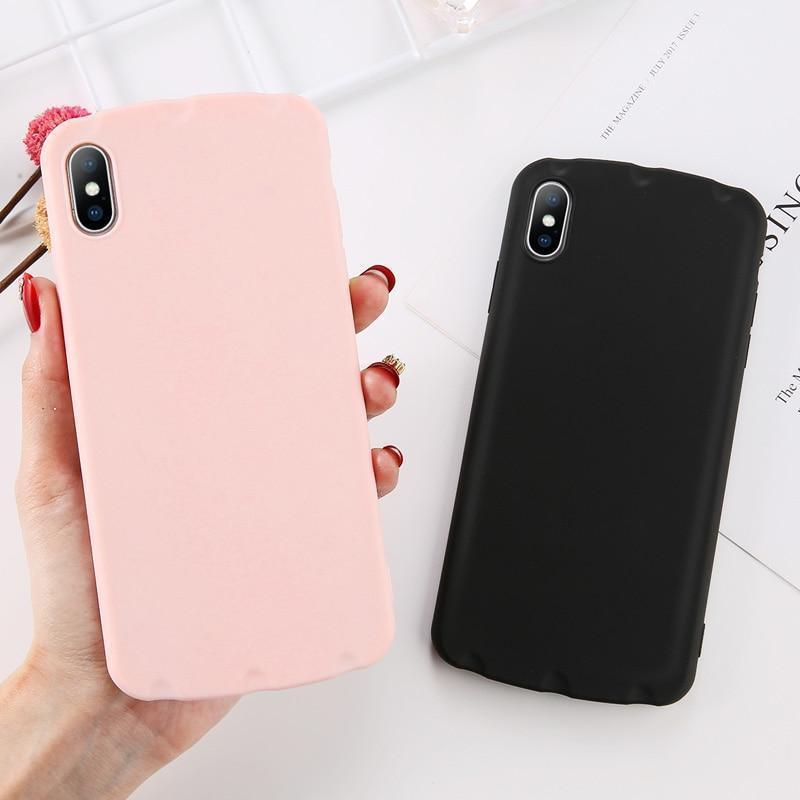 Simple Candy Color Case - Jelly Cases