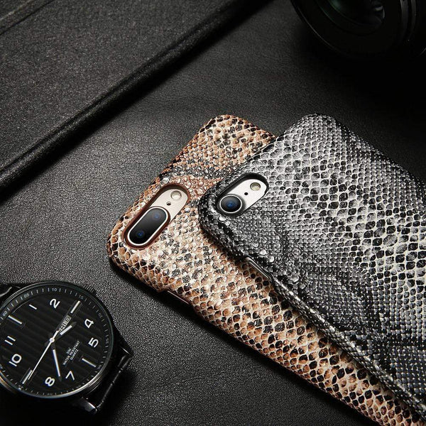 Snake Skin Leather Case - Jelly Cases
