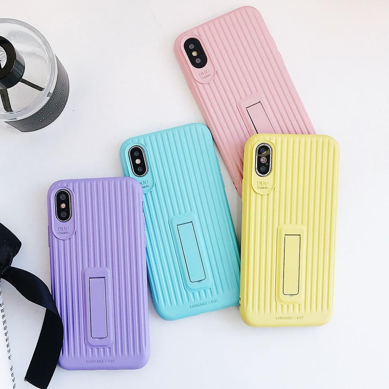 Stripe Candy Colors With Stand - Jelly Cases