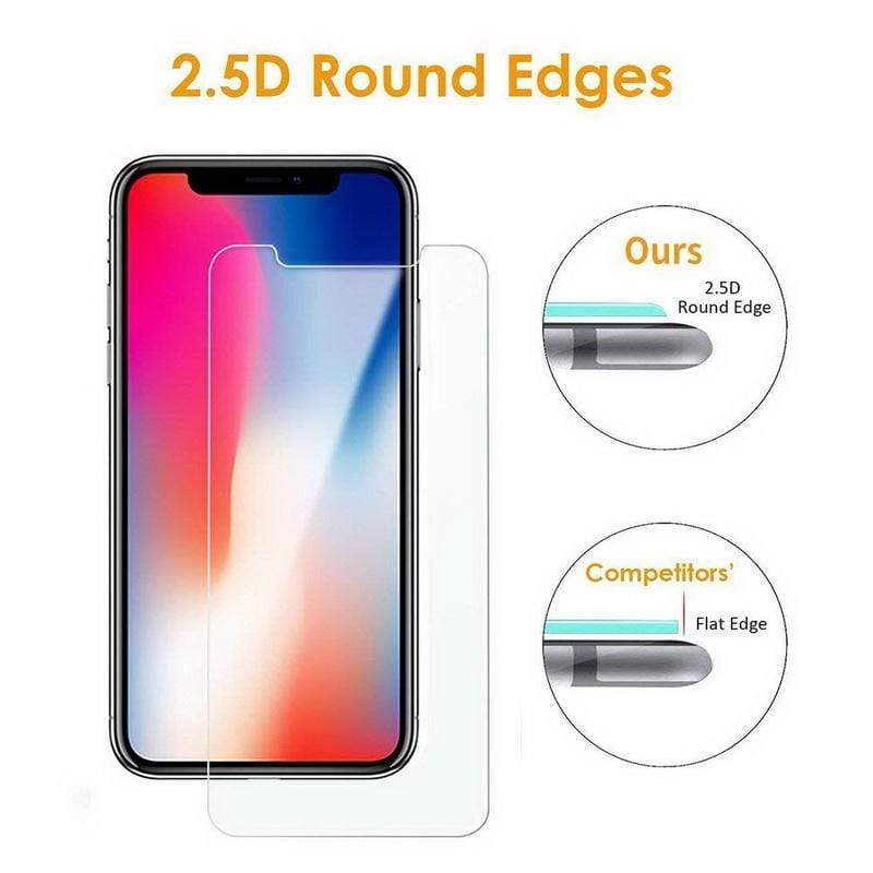 Tempered Glass Screen Protector - Jelly Cases