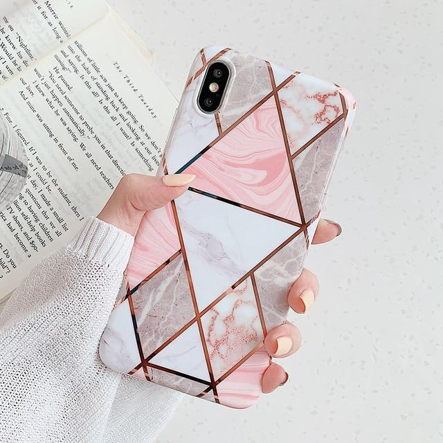Triangular Marble Case - Jelly Cases