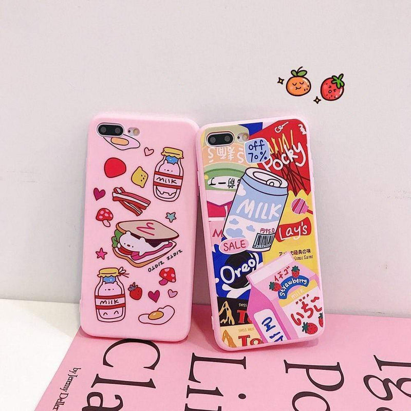Ultra Soft Food Pattern Case - Jelly Cases