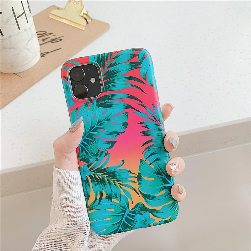 Vintage Gradient Leaf Case - Jelly Cases