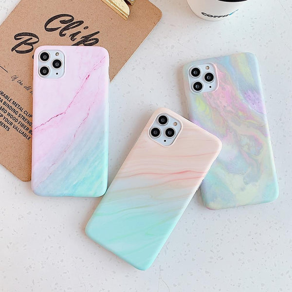 Vintage Marble Color Case - Jelly Cases