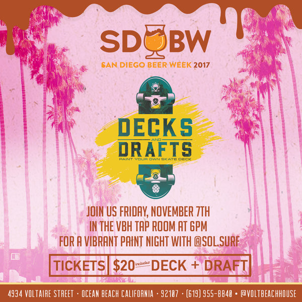 SD Beer Week Decks + Drafts