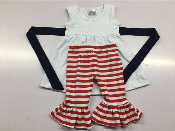 Red, White, and Blue Capri Set
