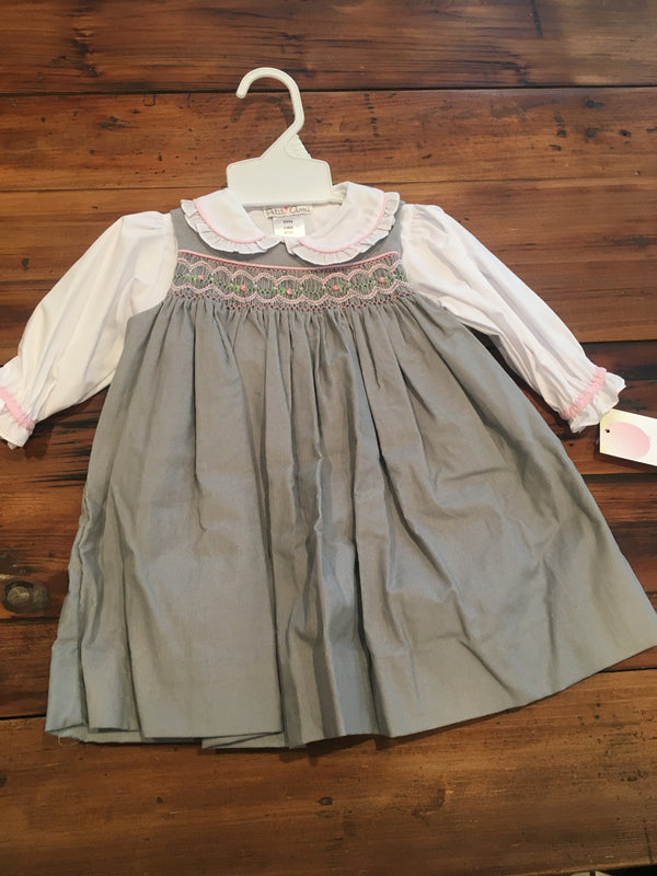 Petit Ami Gray Dress with Bloomers