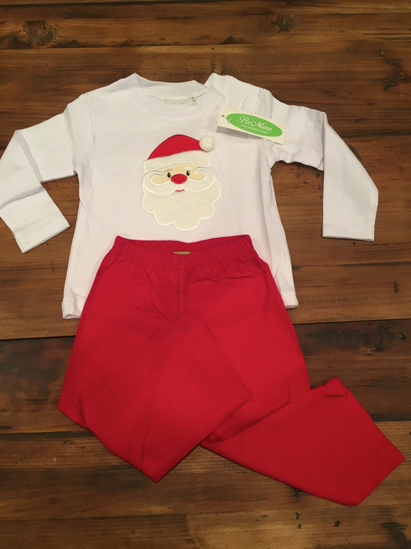 Be Mine Applique Santa Boys Pant Set