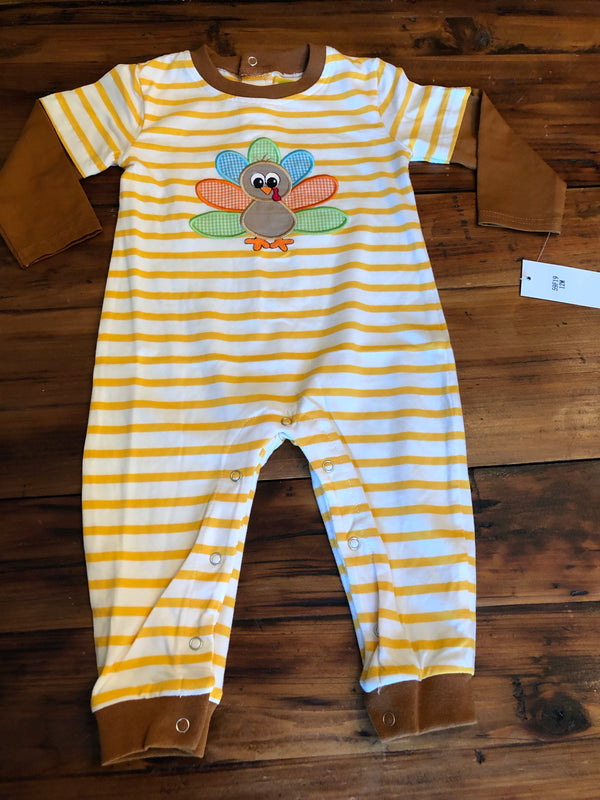 Appliqué Turkey Romper - Boys