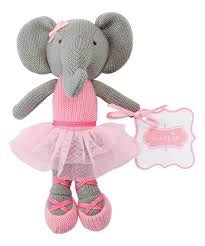 Mud Pie Ballerina Plush Rattle