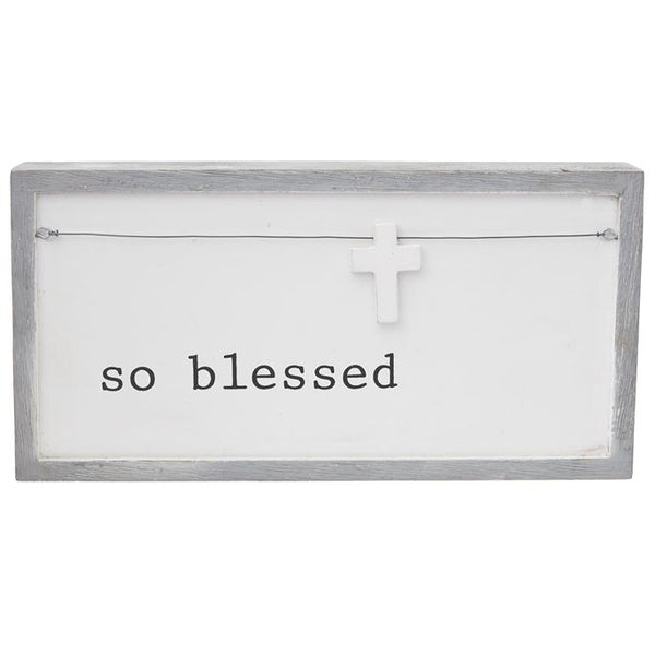 So Blessed Wooden Charm Plaque