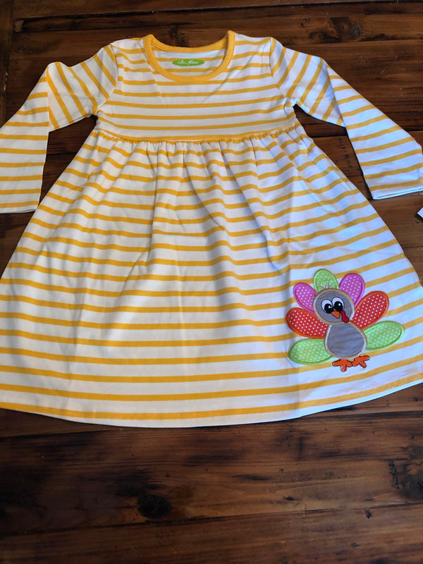 Appliqué Turkey Dress