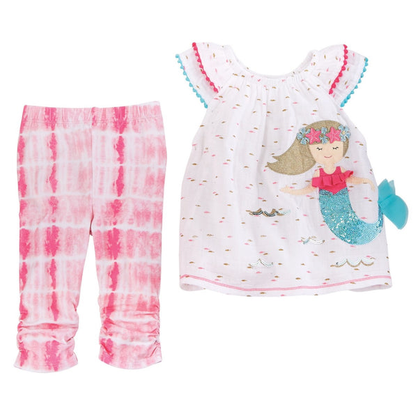 Mud Pie Mermaid Capri Set
