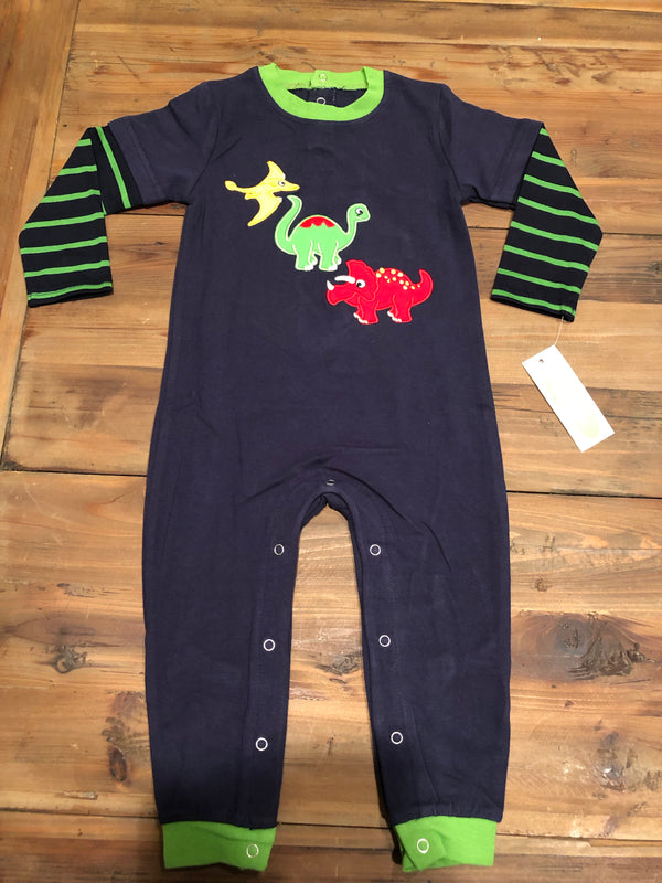 Be Mine Dinosaur Appliqué Boys Romper