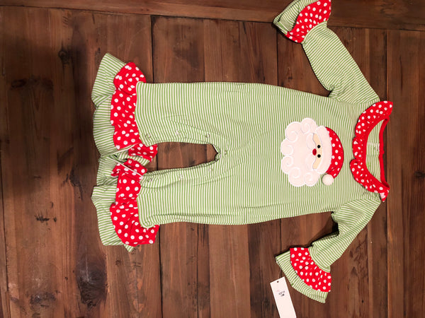 Santa Appliqué Girls Romper