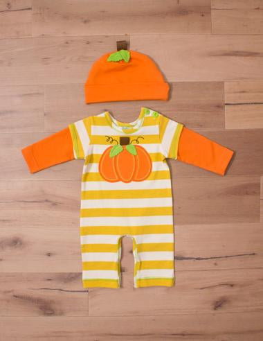 Peaches n' Cream Boys Romper With Hat