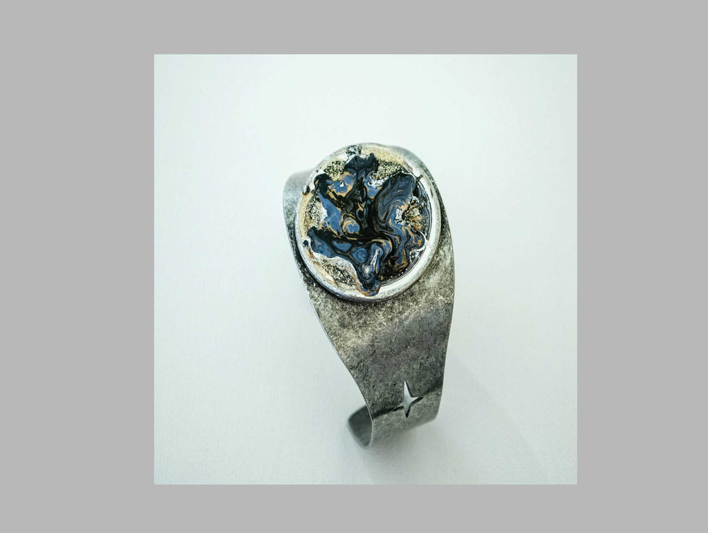 Marbled In Blue Bangle