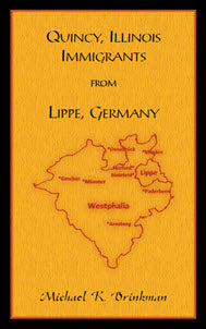 Quincy, Illinois Immigrants From Lippe, Germany
