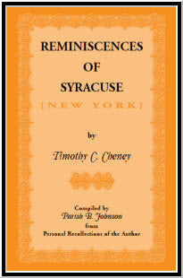 Reminiscences of Syracuse
