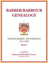 Barber/Barbour Genealogy: Thomas Barber, The Immigrant 1614-1662