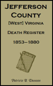 Jefferson County, [West] Virginia, Death Records, 1853-1880