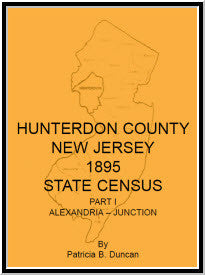 Hunterdon County, New Jersey, 1895 State Census, Part I: Alexandria-Junction