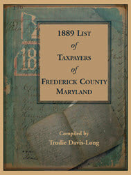 1889 List of Taxpayers of Frederick County, Maryland