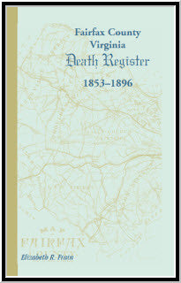 Fairfax County, Virginia, Death Register, 1853-1896