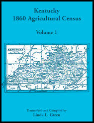 Kentucky 1860 Agricultural Census, Volume 1